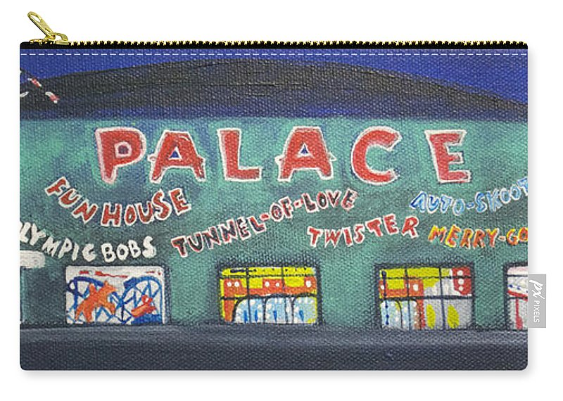Tillie Of Asbury Park Carry-all Pouch featuring the painting The Tiny Tiny Palace by Patricia Arroyo