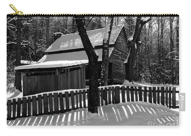 Smokies Carry-all Pouch featuring the photograph The Tipton Place Homestead II by Douglas Stucky