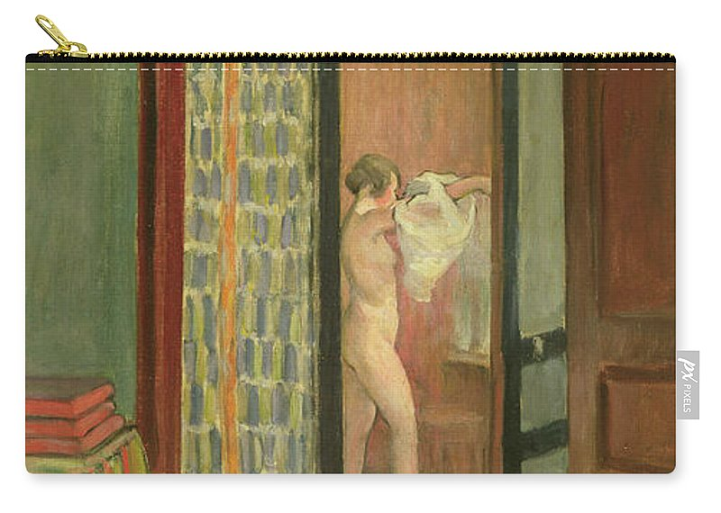 Interior Carry-all Pouch featuring the painting The Toilet by Henri Lebasque