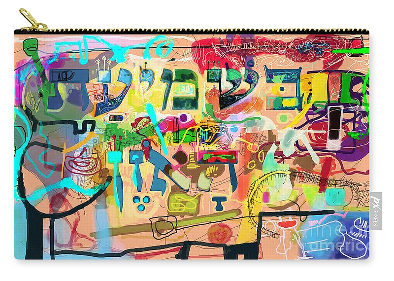 Torah Carry-all Pouch featuring the digital art the Torah is aquired with attentive listening 7 by David Baruch Wolk