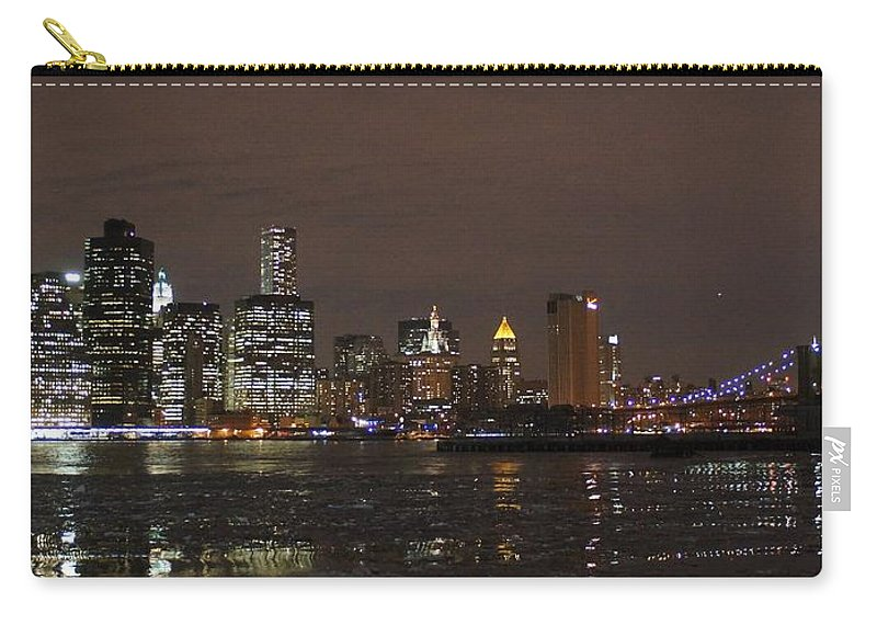 Freedom Carry-all Pouch featuring the photograph The Tower And The Bridge by John Wall