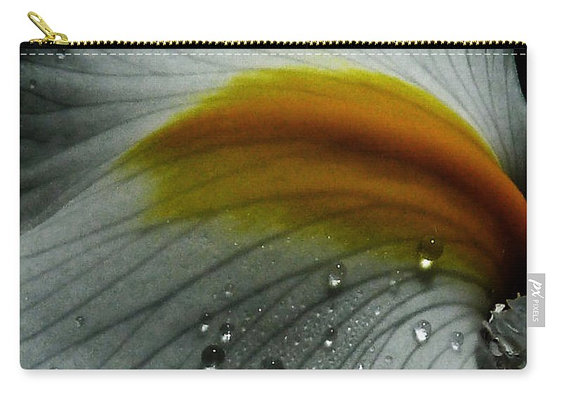Flower Carry-all Pouch featuring the photograph The Tracks Of My Tears by Steve Taylor