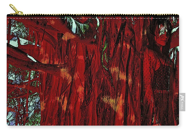 Tree Carry-all Pouch featuring the photograph The Tree Spirit by Linda Sannuti