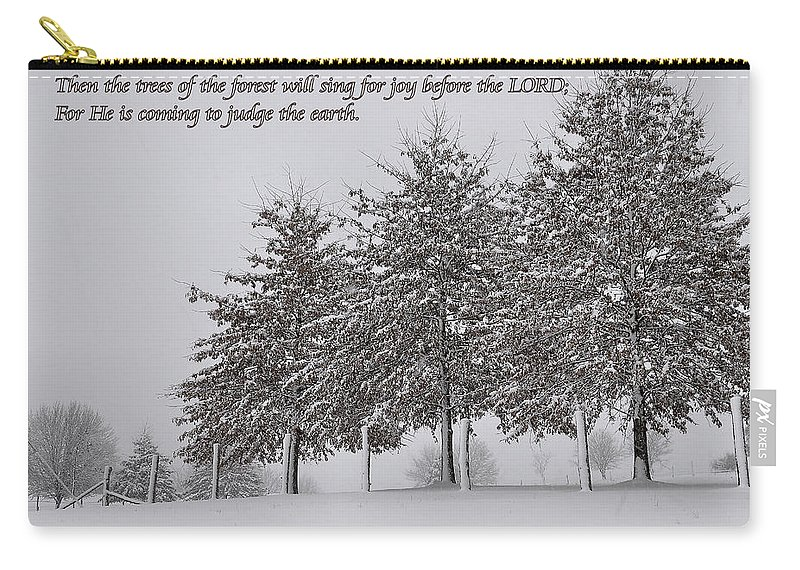 Trees Carry-all Pouch featuring the photograph The Trees by Todd Hostetter