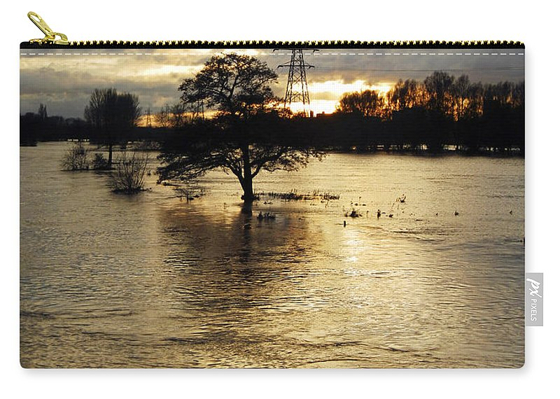 Burton On Trent Carry-all Pouch featuring the photograph The Trent Washlands In Full Flood by Rod Johnson