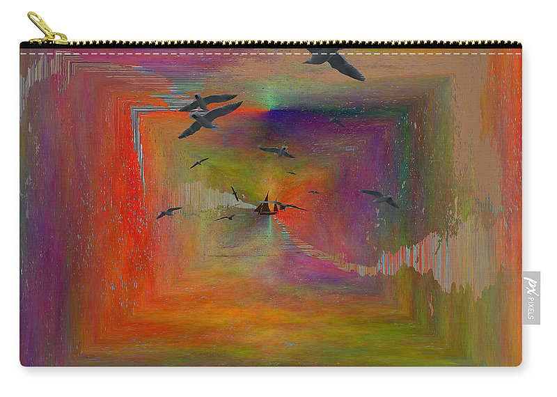 Abstract Carry-all Pouch featuring the digital art The Tributaries by Tim Allen