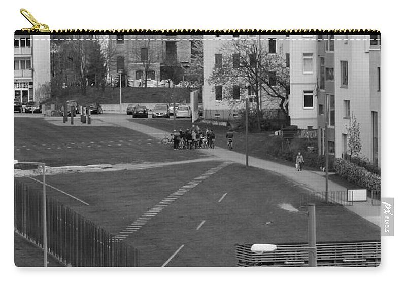Tunnel Escape East West Berlin Wall Bars Death Stripe French Russian Sector Photograph Bw Sw Fluchttunnel Carry-all Pouch featuring the photograph The Tunnel by Steve K