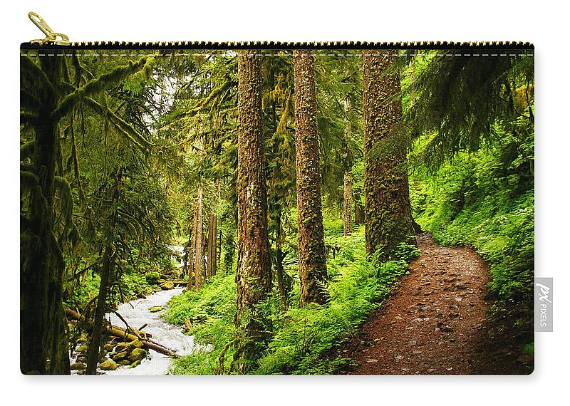 Paths Carry-all Pouch featuring the photograph The Twisting Path Winding Through Paradise by Jeff Swan