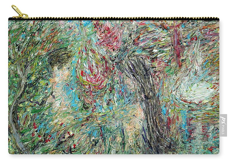 Man Carry-all Pouch featuring the painting The Two And The Nature by Fabrizio Cassetta