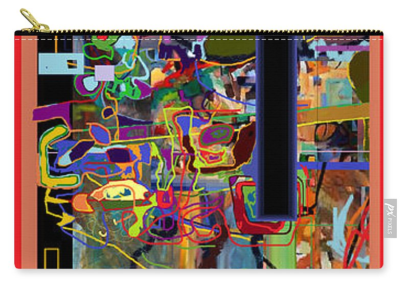 Torah Carry-all Pouch featuring the digital art The Tzaddik Lives On Emunah 4 by David Baruch Wolk