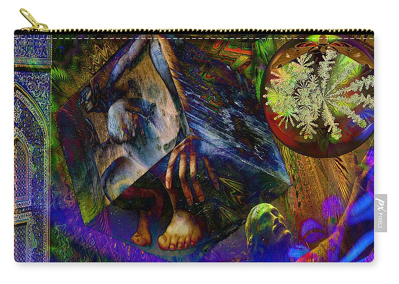Fractal Carry-all Pouch featuring the digital art Solar Engineer by Joseph Mosley