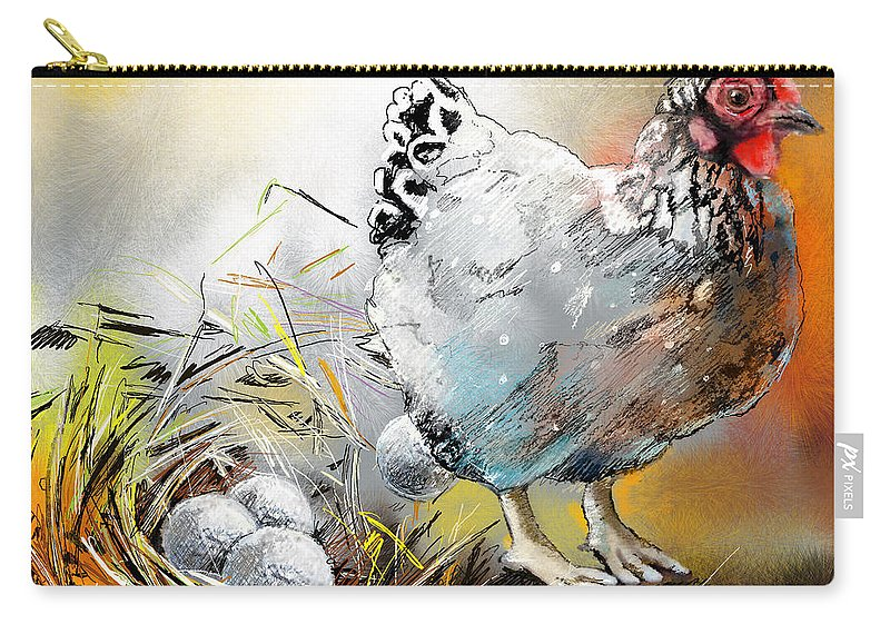 Sports Carry-all Pouch featuring the painting The Ultimate Golfer Gift by Miki De Goodaboom