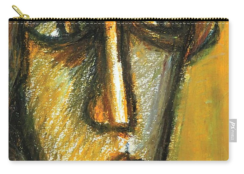 Portrait Carry-all Pouch featuring the pastel The Unseen - 2 by Rabi Khan
