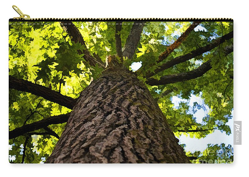 Nature Carry-all Pouch featuring the photograph The Upper View - Digital Paint by Debbie Portwood