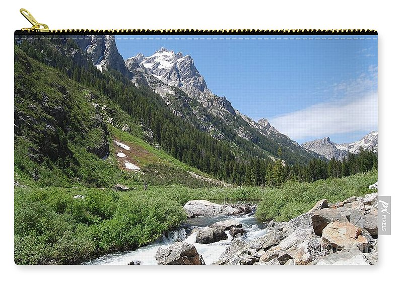 Landscape Carry-all Pouch featuring the photograph The Valley Beyond by Deanna Cagle
