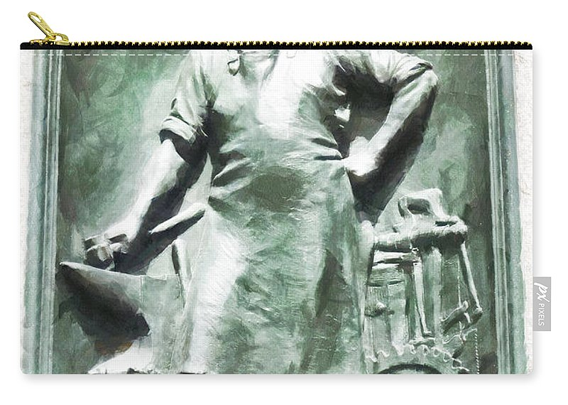 Blacksmith Carry-all Pouch featuring the photograph The Versatility Of The Blacksmith by Steve Taylor