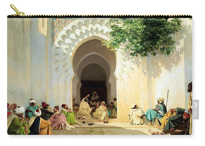 Orientalism Carry-all Pouch featuring the photograph The Village Counselor by Munir Alawi
