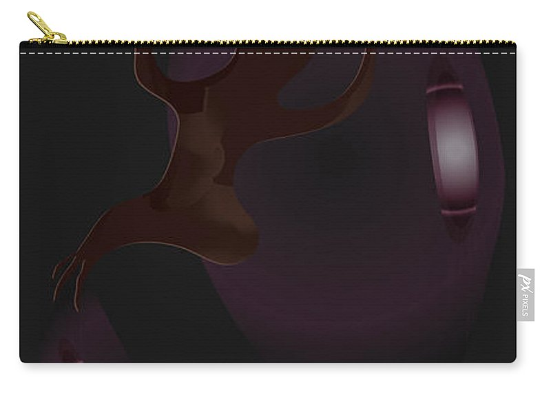 Purple Carry-all Pouch featuring the digital art The Violet Void by Kevin McLaughlin