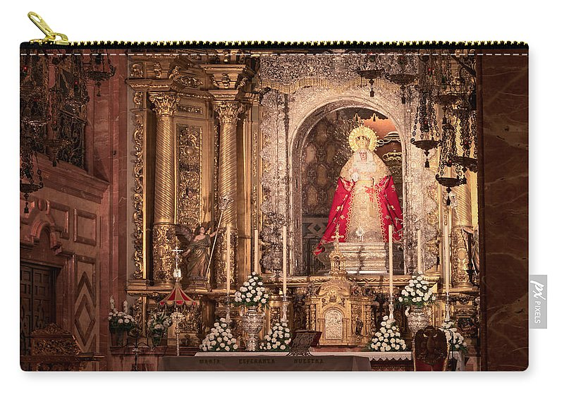 Joan Carroll Carry-all Pouch featuring the photograph The Virgin Of Hope by Joan Carroll