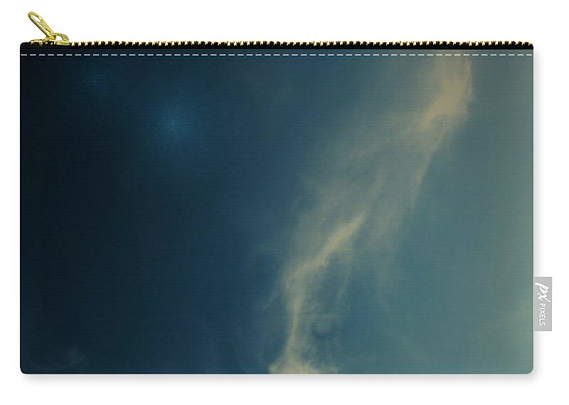 Cloudy Carry-all Pouch featuring the photograph The Visitor Light And Peace Always by Joyce Dickens