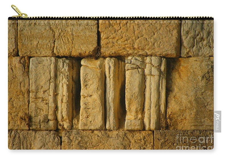 Israel Carry-all Pouch featuring the photograph The Western Wall by Doc Braham