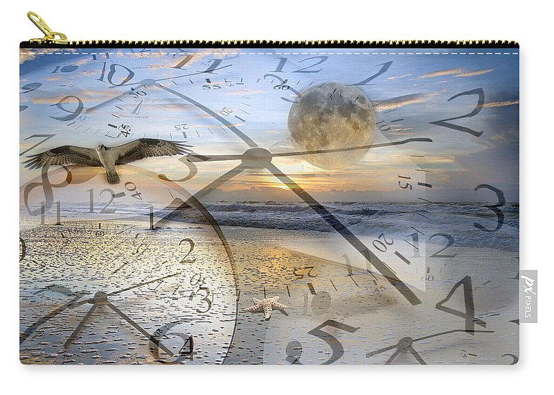 Beach Carry-all Pouch featuring the digital art The Waiting Room by Betsy Knapp