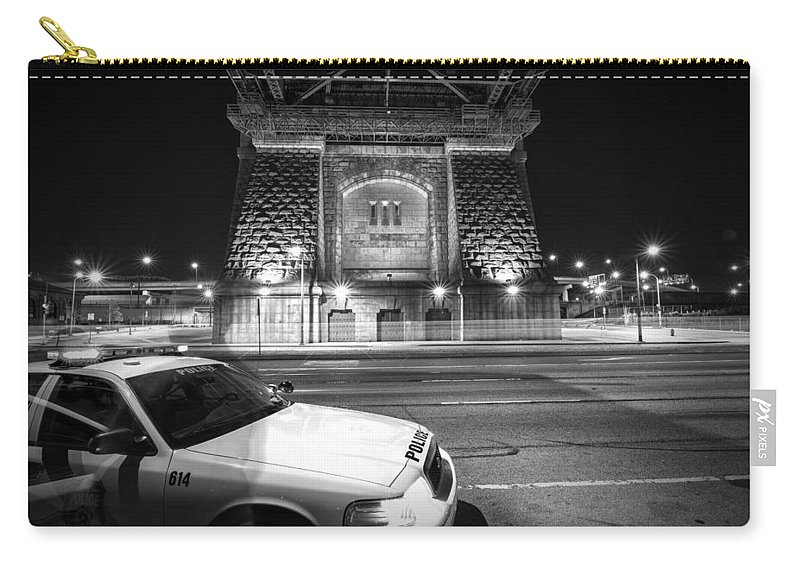Police Carry-all Pouch featuring the photograph The Watched by Rob Dietrich