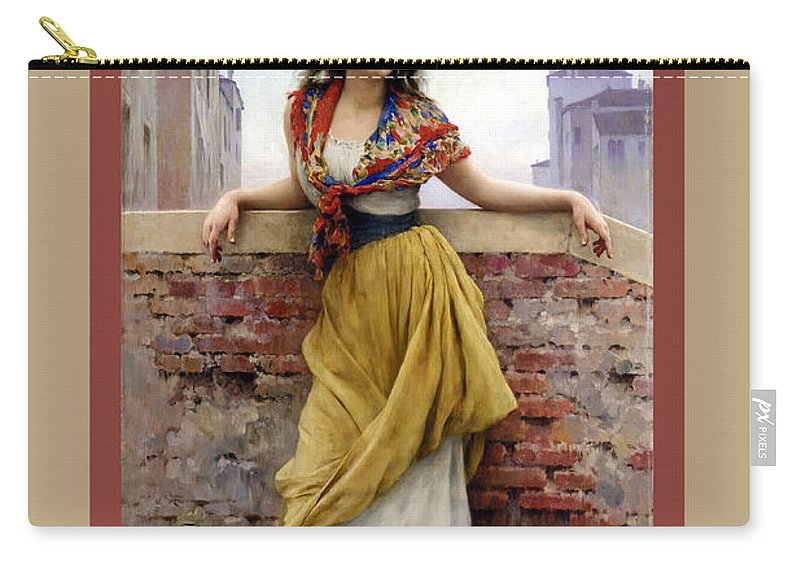 Eugene De Blaas Carry-all Pouch featuring the digital art The Water Carrier Poster by Eugene de Blaas