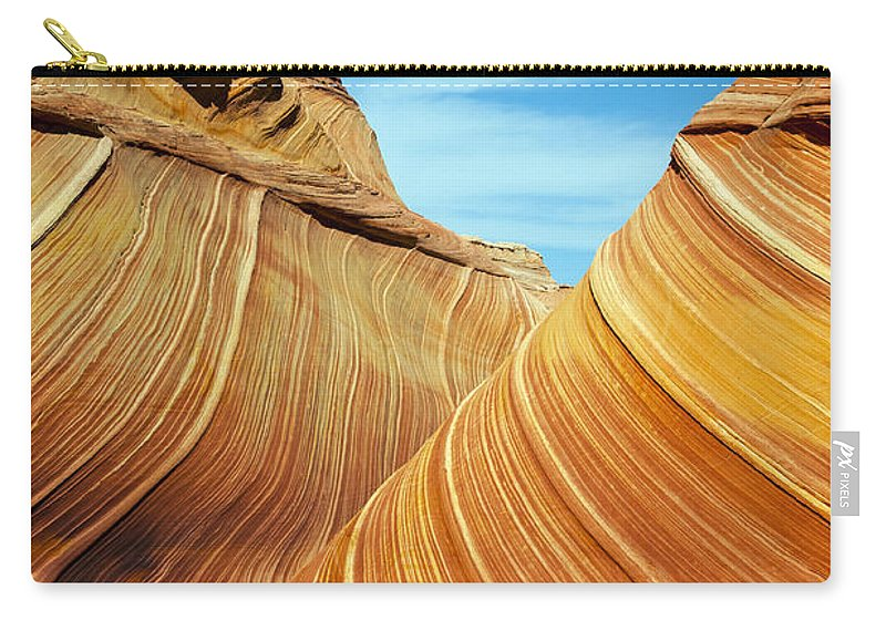 The Wave Carry-all Pouch featuring the photograph The Wave by Bob Phillips