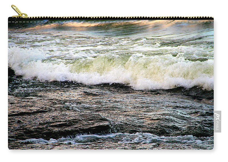 Moving Water Carry-all Pouch featuring the photograph The Wave by Dan Sproul