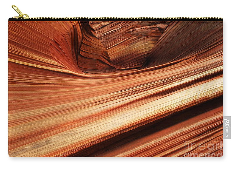 The Wave Carry-all Pouch featuring the photograph The Wave Layers Of Time by Bob Christopher
