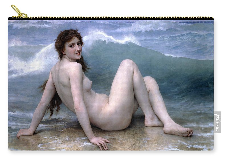 Wave Carry-all Pouch featuring the photograph The Wave by Munir Alawi