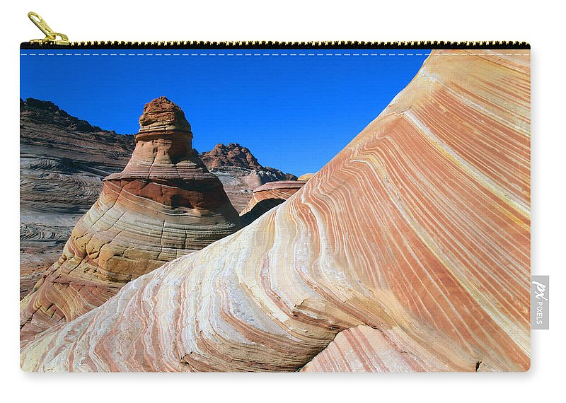 Landscape Carry-all Pouch featuring the photograph 'the Wave' North Coyote Buttes 10 by Jeff Brunton