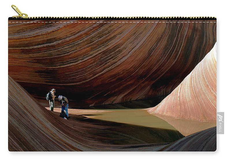 Landscape Carry-all Pouch featuring the photograph 'the Wave' North Coyote Buttes 44 by Jeff Brunton