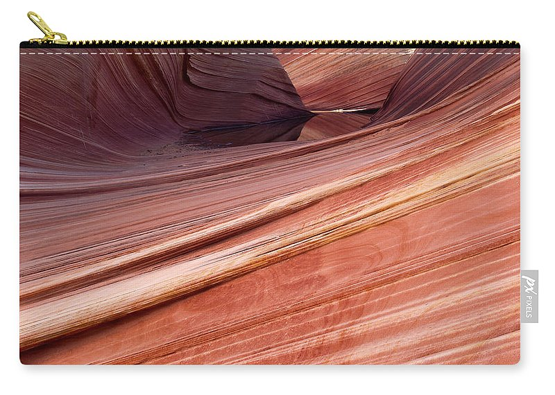 Landscape Carry-all Pouch featuring the photograph 'the Wave' North Coyote Buttes 62 by Jeff Brunton