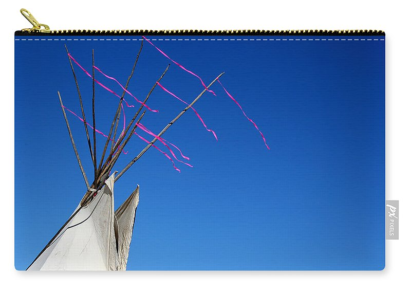 American Indian Carry-all Pouch featuring the photograph The Way The Wind Blows by Joe Kozlowski