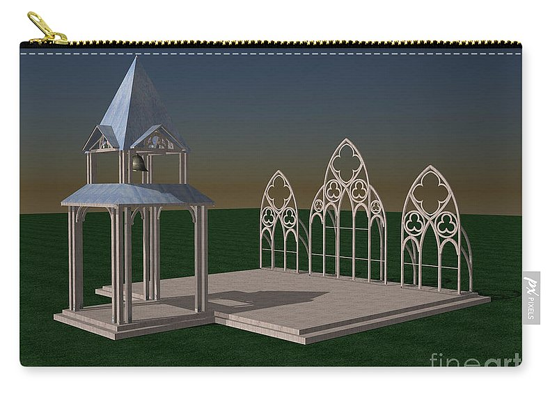 Wedding Chapel Carry-all Pouch featuring the digital art The Wedding Place Wip by Peter Piatt