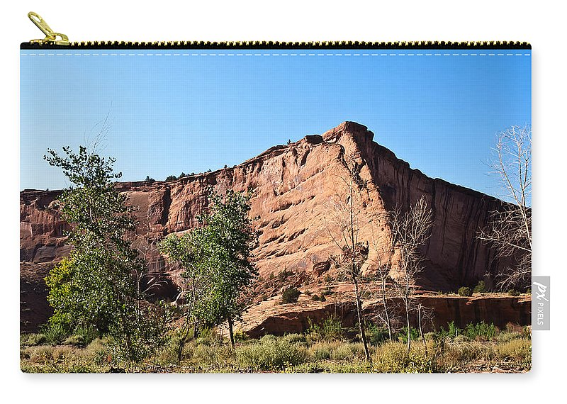 Arizona Carry-all Pouch featuring the photograph The Wedge Canyon Dechelly by Bob and Nadine Johnston