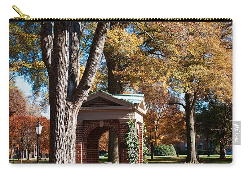 Art Carry-all Pouch featuring the photograph The Well - Davidson College by Paulette B Wright