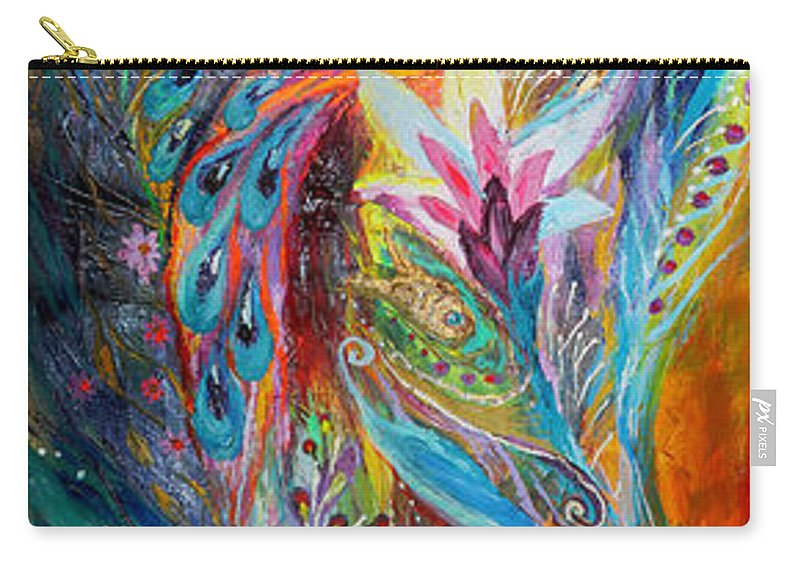 Judaica Carry-all Pouch featuring the painting The Whisper Of Dream by Elena Kotliarker