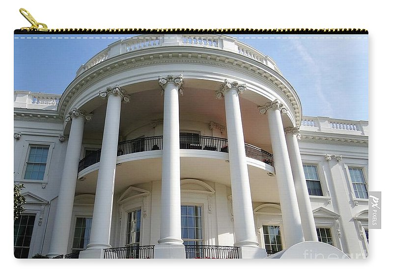 The White House Carry-all Pouch featuring the photograph The White House South Portico by Ed Weidman