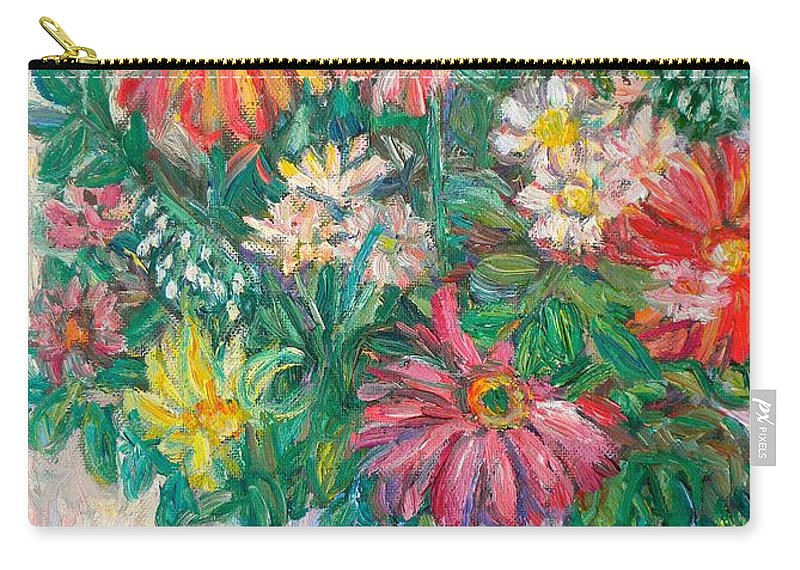 Still Life Carry-all Pouch featuring the painting The White Vase by Kendall Kessler