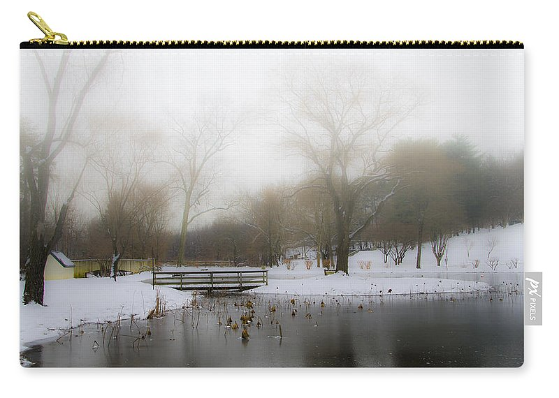 Willows Carry-all Pouch featuring the photograph The Willows In Winter - Newtown Square Pa by Bill Cannon