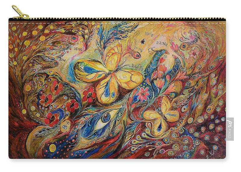 Original Carry-all Pouch featuring the painting The Wind by Elena Kotliarker