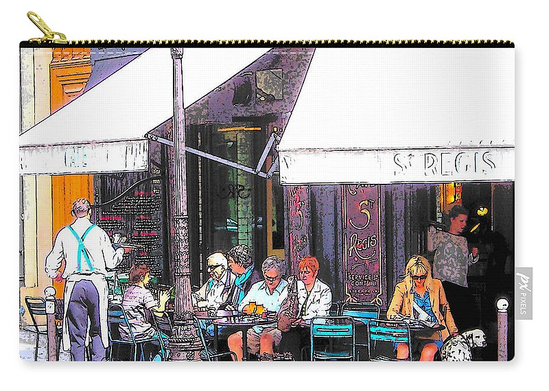 Paris Carry-all Pouch featuring the photograph The Wine Bar In Paris by Jan Matson