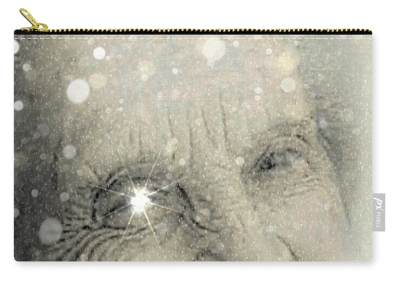 Aged Carry-all Pouch featuring the digital art The Winter Of Our Content by Ellen Cannon