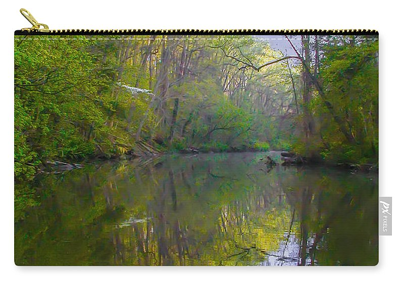 The Carry-all Pouch featuring the photograph The Wissahickon Creek In The Morning by Bill Cannon