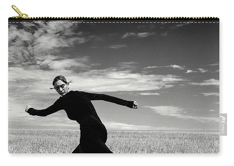 Looking Over Shoulder Carry-all Pouch featuring the photograph The Witch by Funky-data