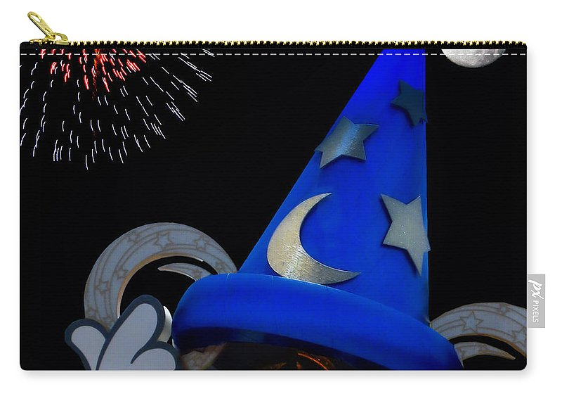 Fantasia Carry-all Pouch featuring the photograph The Wizard Walt Disney World by Thomas Woolworth