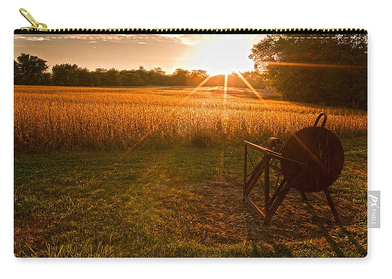 Farms Carry-all Pouch featuring the photograph The Wood Cutter Buzz Saw by Randall Branham
